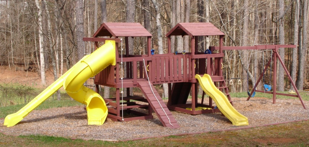 An oversized playground with every accessory a kid could want.