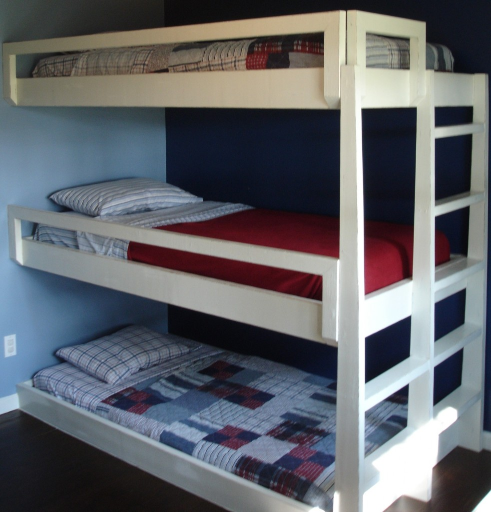 Bunk+Beds+Designs The Triple Bunk Bed needed to be open and ...