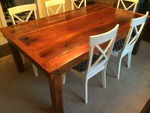 Hand Crafted From 70 Yr Old Reclaimed Oak Barn Wood It Is 4 Ft By 7 And Will Seat 10 Comfortably