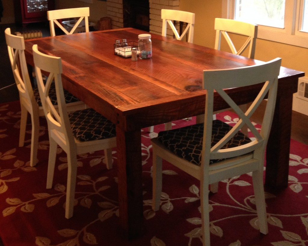 Hand crafted from 70+ yr. old reclaimed oak barn wood.