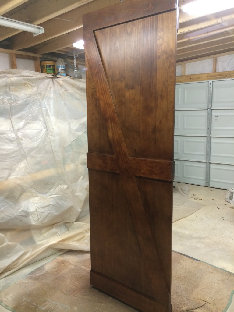 Here is decorative barn door being built in my shop.  It is a full 8 ft. high.
